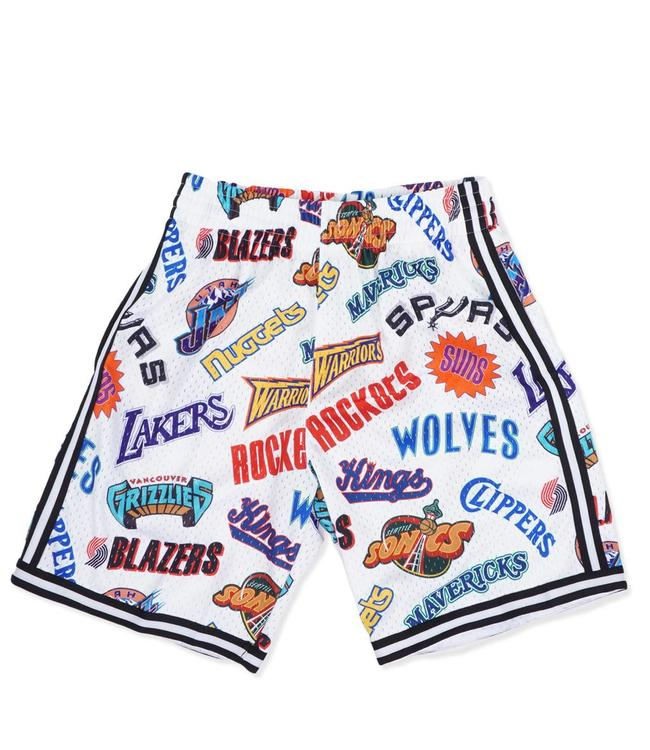cheap for discount 9a1eb a0ac6 MITCHELL AND NESS All-Over Western Swingman Short