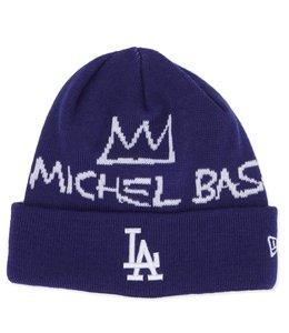 NEW ERA DODGERS BASQUIAT SIGNATURE KNIT BEANIE