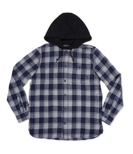 VANS LOPES HOODED FLANNEL SHIRT
