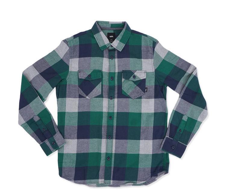 772c1ad1ae2 Vans Box Flannel Shirt - Evergreen Grey Heather