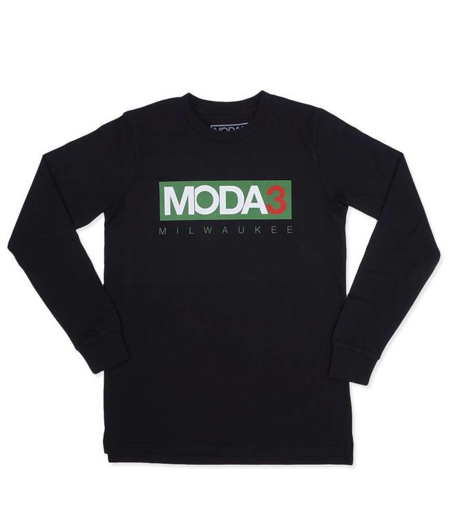 MODA3 Box Logo Long Sleeve Tee