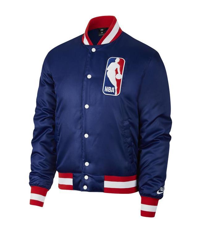 Nike SB x NBA Icon Bomber Jacket - Deep Royal Blue White  efb7db246