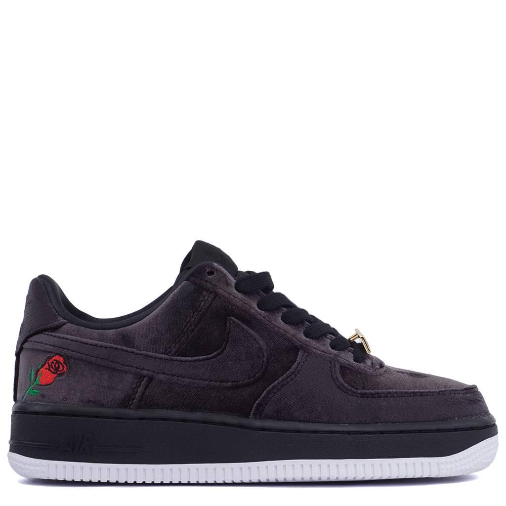Nike Air Force 1  07 QS  Velvet Rose  - Satin Black White  3d03624f38