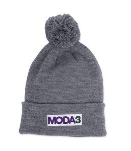 MODA3 BOX LOGO CUFF POM BEANIE