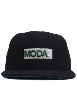 MODA3 BOX LOGO MELTON WOOL SNAPBACK HAT