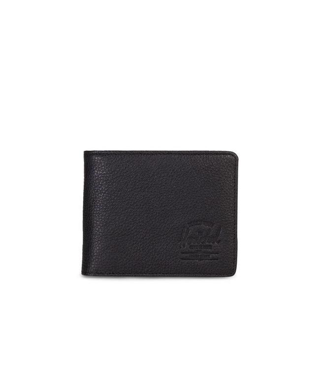 562ccce876e5 Herschel Supply Co. Hank Leather Wallet - Black Pebbled Leather - MODA3