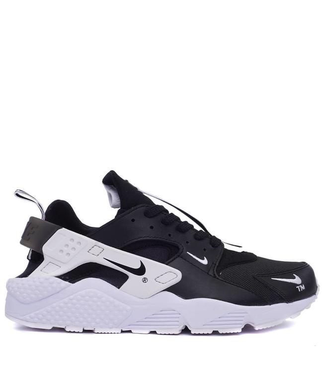 5d54f819aebf Nike Air Huarache Run Premium Zip - Black White Black - MODA3