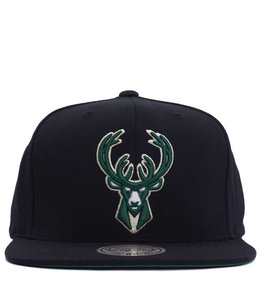 brand new 3e242 12bf2 MITCHELL AND NESS BUCKS ICON WOOL SOLID SNAPBACK