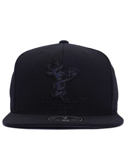 MITCHELL AND NESS BUCKS HWC BLACK FOIL FITTED HAT