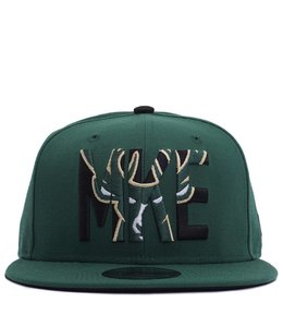 NEW ERA BUCKS MKE ICON SNAPBACK HAT