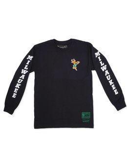 MITCHELL AND NESS BUCKS ICONIC LS TEE