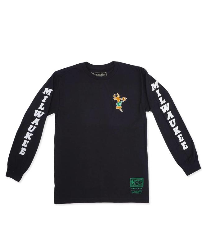 MITCHELL AND NESS Bucks Icon Long Sleeve Tee