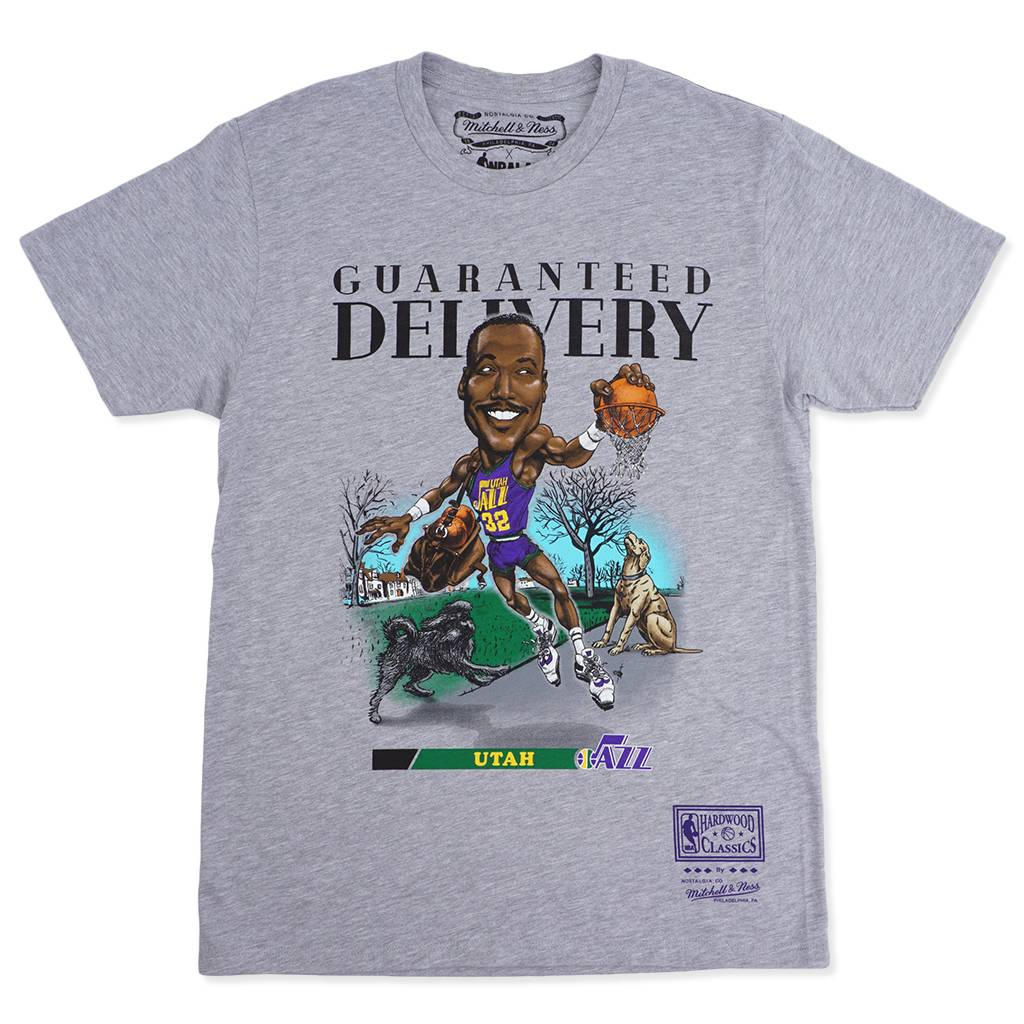 separation shoes b4a30 c729c Mitchell & Ness HWC Karl Malone Salem Classic T-Shirt | Heather Grey