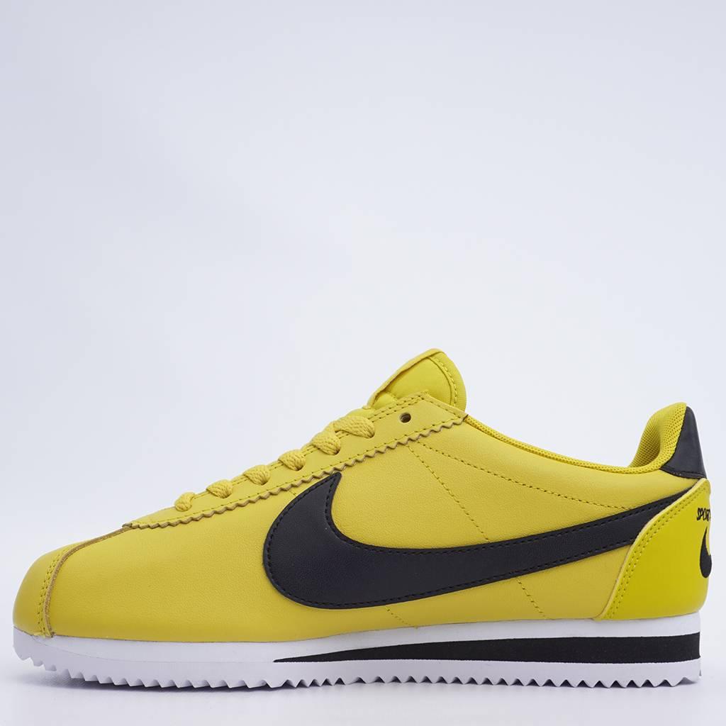 90cb142f27863 Nike Classic Cortez Premium - Bright Citron/Black-White   807480-700 ...
