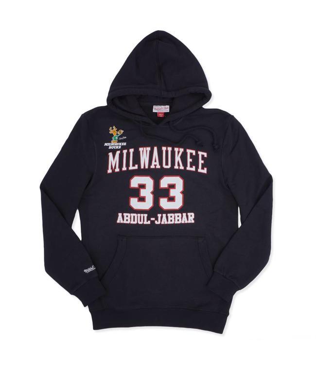 MITCHELL AND NESS Bucks HWC Kareem #33 Pullover Hoodie