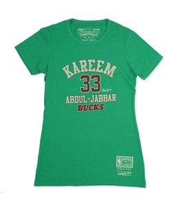 MITCHELL AND NESS BUCKS WOMEN'S HWC KAREEM CLASSIC TEE