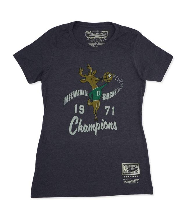 MITCHELL AND NESS Bucks Women's HWC 1971 Champions Tee