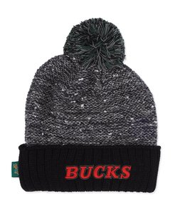 MITCHELL AND NESS BUCKS HWC MARLED POM BEANIE
