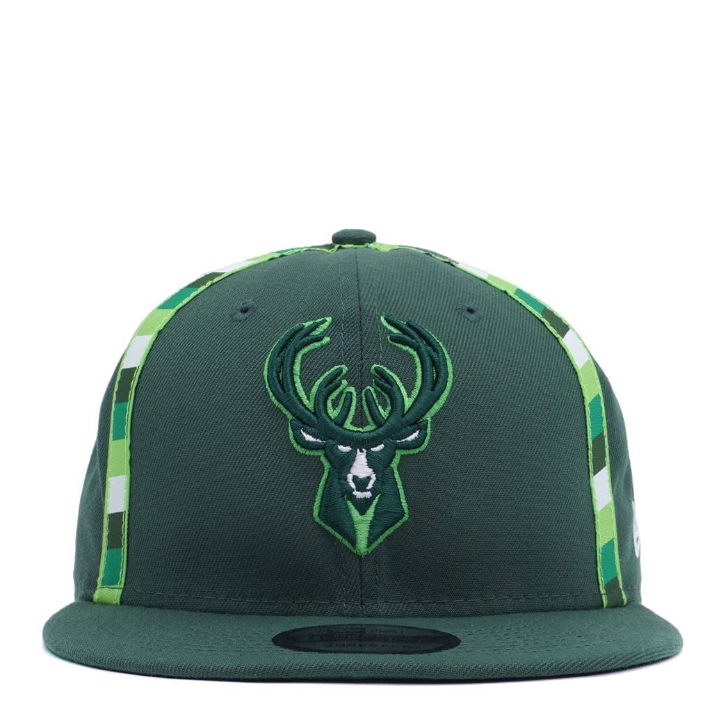 New Era Milwaukee Bucks Irish Rainbow Snapback Hat - Green - MODA3 9a0a3c0e9ef