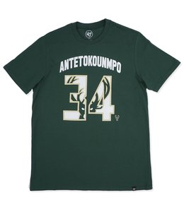 '47 BRAND BUCKS GIANNIS NAME & NUMBER FRONT TEE