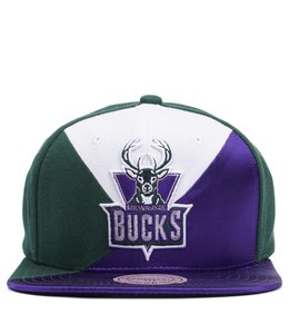 MITCHELL AND NESS BUCKS HWC QUADRIGA SNAPBACK HAT