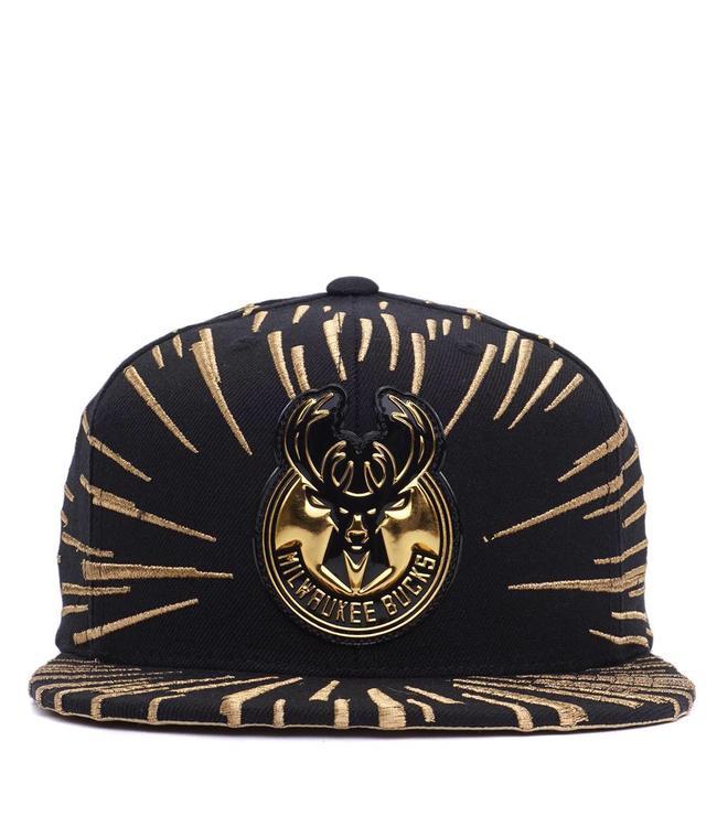 MITCHELL AND NESS Bucks Nucleo Gold Snapback Hat