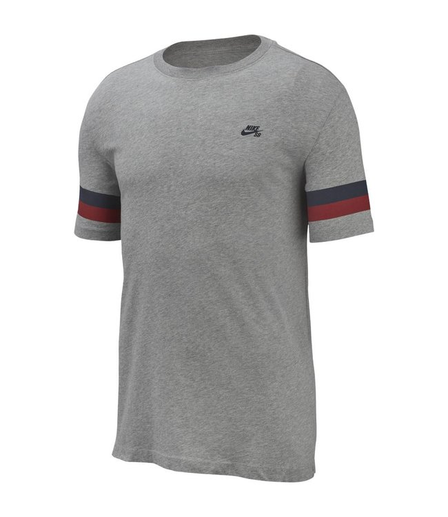c02811a6 Nike SB Sleeve Stripe T-Shirt - Heather/Obsidian | AQ4520-063 - MODA3