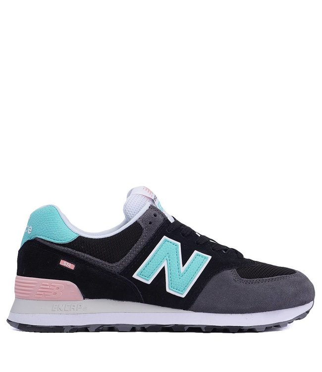 734440552e6aa New Balance 574 Marbled Street - Black with Light Tidepool ...