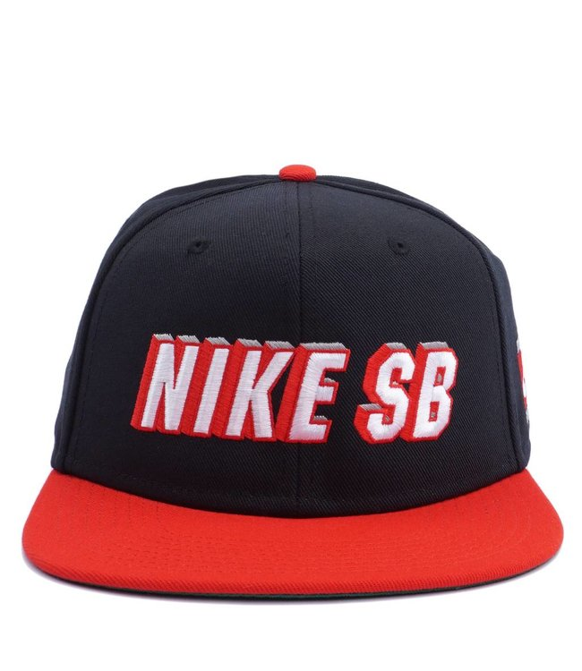 Nike SB x NBA Pro Snapback Hat - Black University Red  e7c16701926