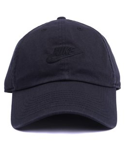 Nike NSW H86 Strapback Hat - Black Black-White  33ea3bf0014