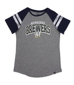 '47 BRAND BREWERS WOMENS FLY OUT RAGLAN