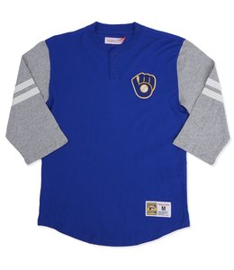 MITCHELL AND NESS BREWERS BALL & GLOVE HENLEY