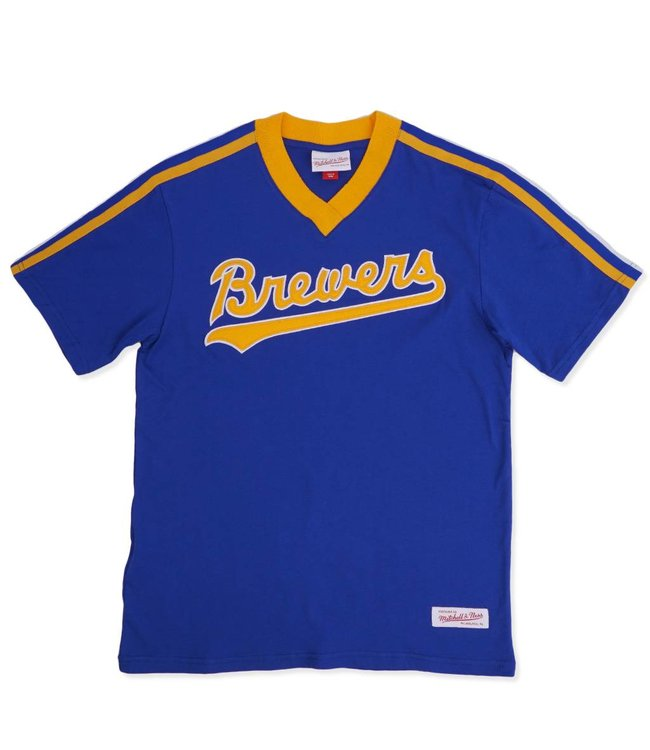 MITCHELL AND NESS Brewers Overtime Win V-Neck
