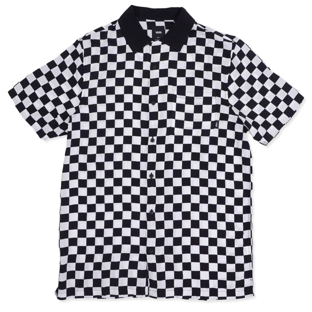 cd71a83f4f Vans Checker Camp Button-Up Shirt - White Black