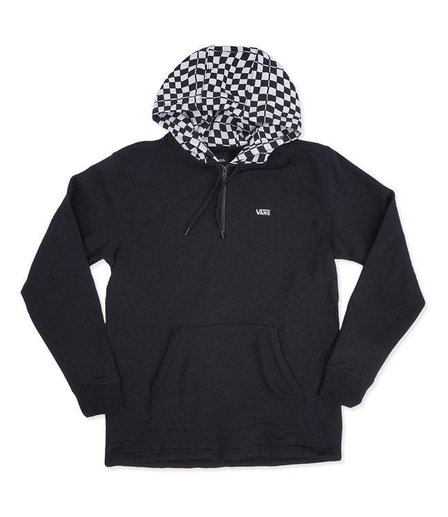 c4baa34ccbabc9 Vans Warp Check 1 4 Zip Pullover - Black