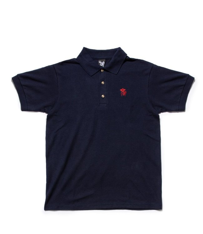 5521b98a7f9 The Quiet Life Shhh Polo Shirt - Navy - MODA3