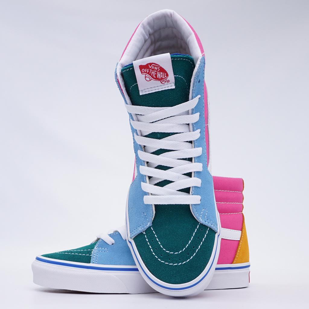 d238ff0b9e0 Vans SK8-Hi (Suede and Canvas) Shoes - Multicolor Bright ...
