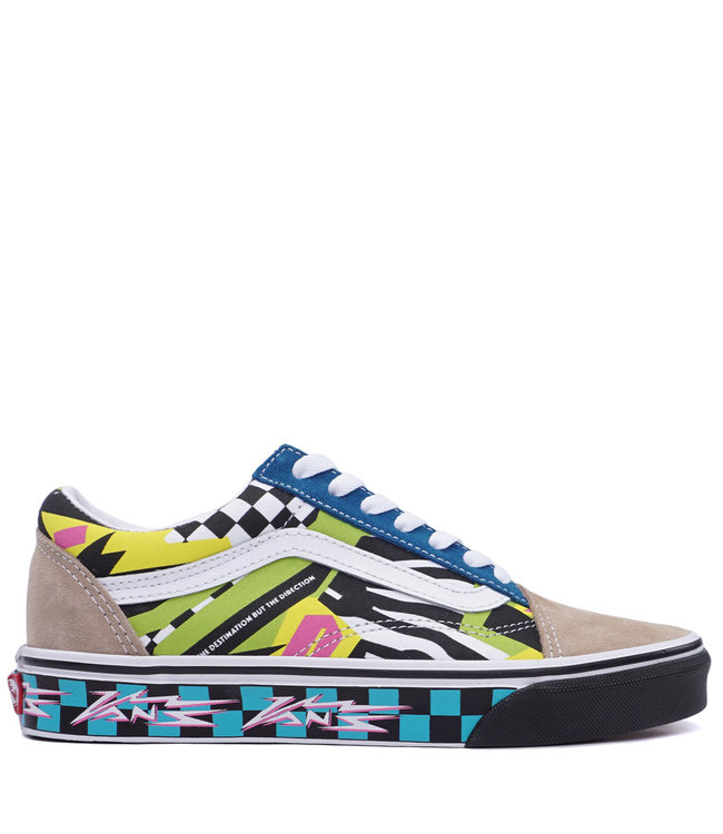 5c0a34363e26a4 Vans Old Skool (Mash Up) Shoes - Multicolor True White