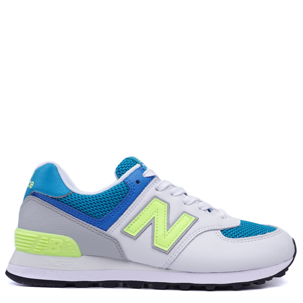 brand new 826f9 a3d27 New Balance 574 Shoes - Deep Ozone Blue with Bleached Lime