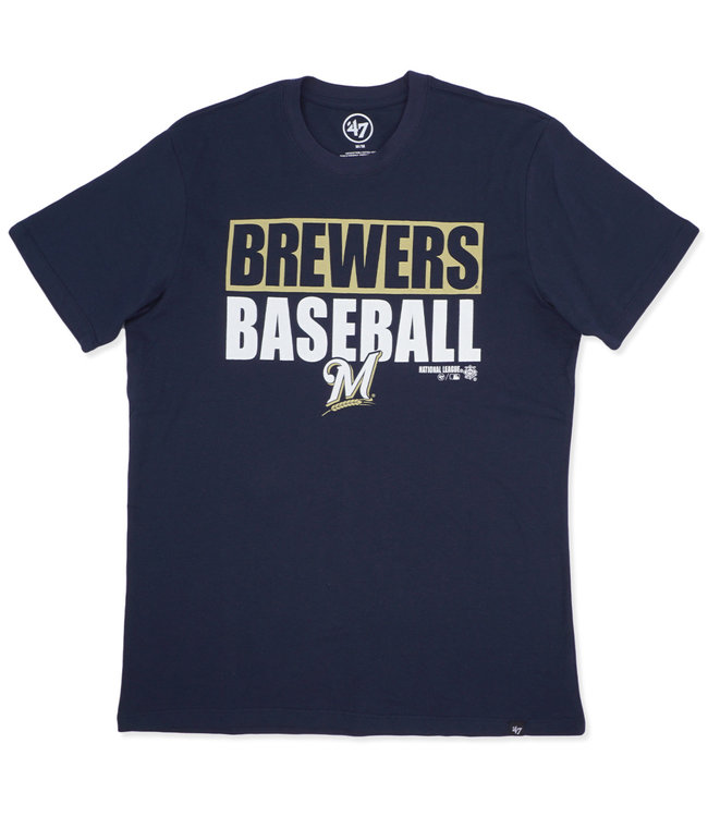 '47 BRAND Brewers Blockout Super Rival Tee