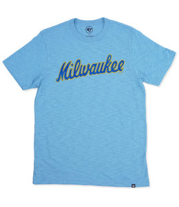 '47 BRAND BREWERS MILWAUKEE SCRUM TEE