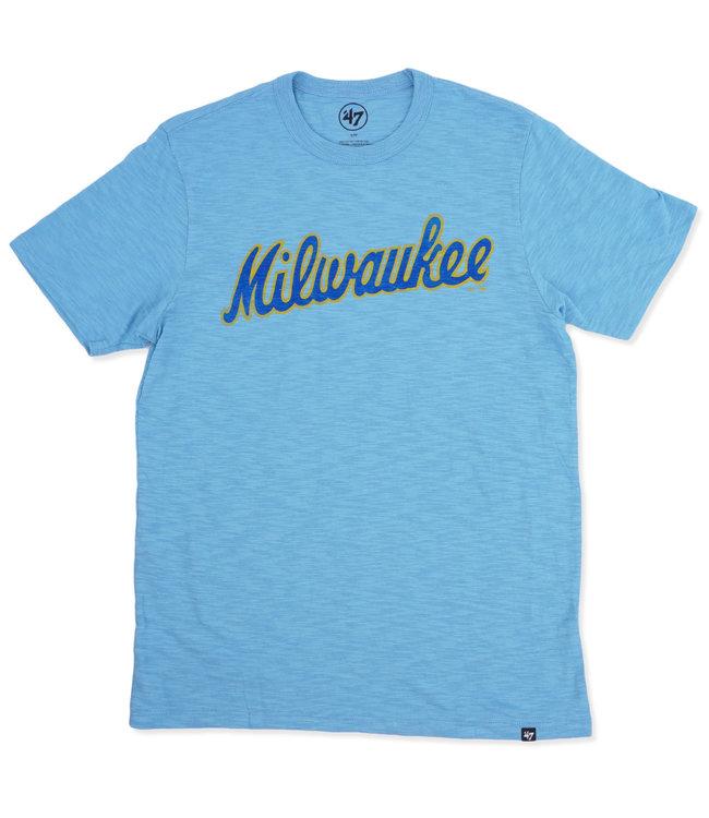 '47 BRAND Brewers Milwaukee Scrum Tee