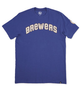 '47 BRAND BREWERS VINTAGE FIELDHOUSE TEE