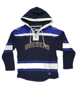 '47 BRAND BREWERS SUPERIOR LACER HOODIE