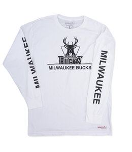 MITCHELL AND NESS BUCKS CROPPED XL LS TEE