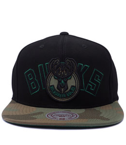 479b86673a4 MITCHELL AND NESS BUCKS WOODLAND COVERT II SNAPBACK HAT