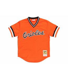 MITCHELL AND NESS ORIOLES CAL RIPKEN 1988 AUTHENTIC BP JERSEY