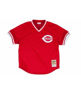 MITCHELL AND NESS REDS JOHNNY BENCH 1983 AUTHENTIC BP JERSEY