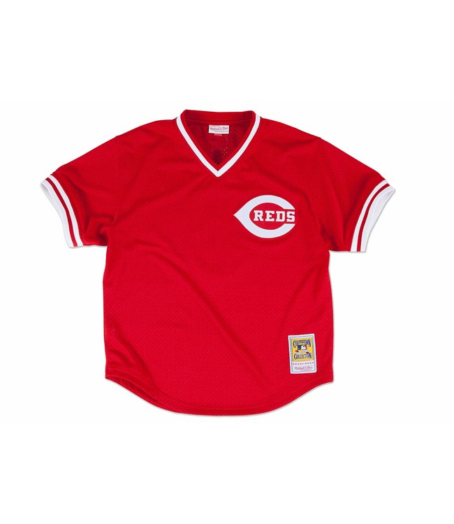 8386ceaa76a Mitchell   Ness Cincinnati Reds Johnny Bench 1983 Authentic BP ...