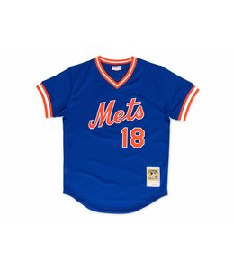 MITCHELL AND NESS METS DARRYL STRAWBERRY 1986 AUTHENTIC BP JERSEY